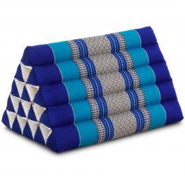 Kapok Dreieckskissen, Thaikissen, Rückenlehne extrahoch, blau