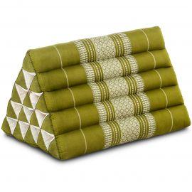Kapok Dreieckskissen, Thaikissen, Rückenlehne extrahoch, grün