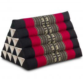 Kapok Dreieckskissen, Thaikissen, Rückenlehne extrahoch, schwarz/Elefant