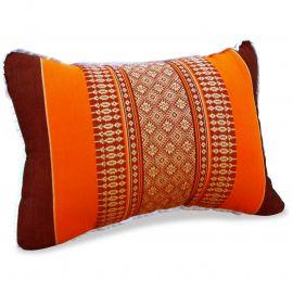 kleines Kapok-Kissen Dekokissen orange, 22 cm x 33 cm x 13 cm