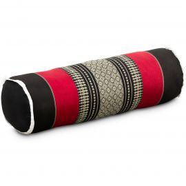 Kapok Nackenrolle, schwarz / rot