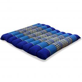 Kapok Thaikissen, Steppkissen, Gr. M, blau