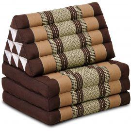 Kapok Thaikissen, Dreieckskissen, braun, 3 Auflagen