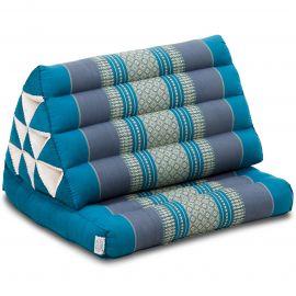 Kapok Thaikissen, Dreieckskissen mit 1 Auflage, hellblau