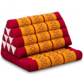 Kapok Thaikissen, Dreieckskissen mit 1 Auflage, rot/gelb
