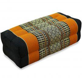 Stützkissen, Yogakissen, schwarz / orange