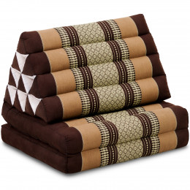 Kapok Thaikissen, Dreieckskissen, braun, 2 Auflagen