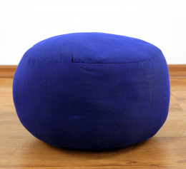 kleines Zafu Meditationskissen, blau