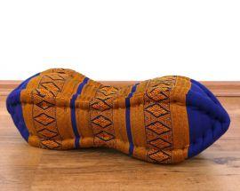 Papaya Nackenkissen, Thaikissen, blau/gelb