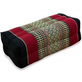Stützkissen, Yogakissen, schwarz / rot