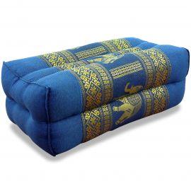 Stützkissen, Yogakissen mit Seide  hellblau / Elefanten