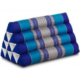 Kapok Dreieckskissen, Thaikissen, Rückenlehne, blau