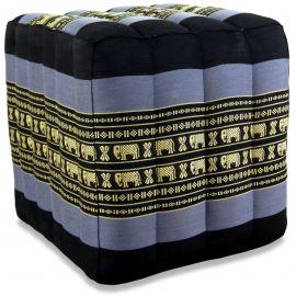 Kapok Würfel-Sitzkissen  blau / Elefanten