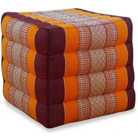 Kapok Würfel-Sitzkissen  orange