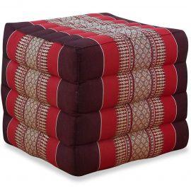 Kapok Würfel-Sitzkissen  rubinrot