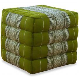 Kapok Würfel-Sitzkissen  grün