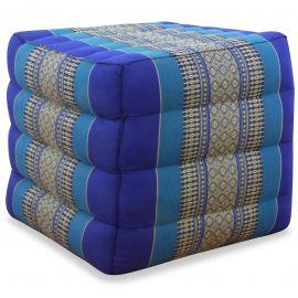 Kapok Würfel-Sitzkissen  blau