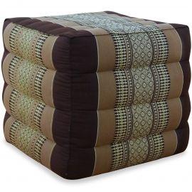 Kapok Würfel-Sitzkissen  braun