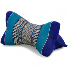 Nackenkissen in Knochenform, Thaikissen, blau