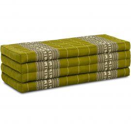 Kapok Faltmatratze L, Klappmatratze,  grün/Elefanten