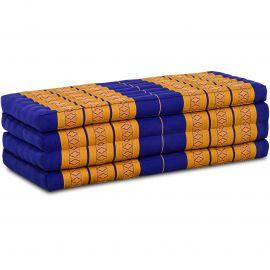 Kapok Faltmatratze L, Klappmatratze, blau/gelb