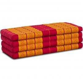 Kapok Faltmatratze L, Klappmatratze, rot/gelb