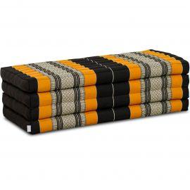 Kapok Faltmatratze L, Klappmatratze, schwarz/orange