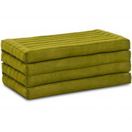 Kapok Faltmatratze, Klappmatratze,  grün, einfarbig