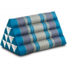 Kapok Dreieckskissen, Thaikissen, Rückenlehne, hellblau