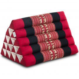 Kapok Dreieckskissen, Thaikissen, Rückenlehne extrahoch, rot/Elefanten