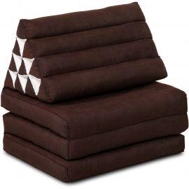 Kapok Thaikissen, Dreieckskissen, einfarbig, braun, 3 Auflagen
