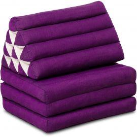 Kapok Thaikissen, Dreieckskissen, einfarbig, lila, 3 Auflagen