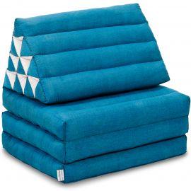 Kapok Thaikissen, Dreieckskissen, einfarbig, hellblau, 3 Auflagen