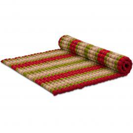 Kapok Rollmatte, Gr. XL, rot / grün