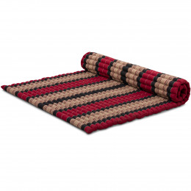 Kapok Rollmatte, Gr. XL, rot / schwarz