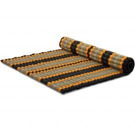 Kapok Rollmatte, Gr. XL, schwarz / orange