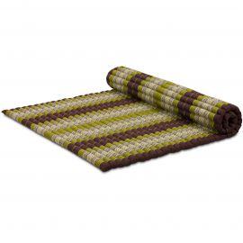 Kapok Rollmatte, Gr. XL, braun / grün