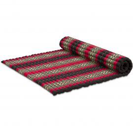 Kapok Rollmatte, Gr. XL, schwarz / Elefanten