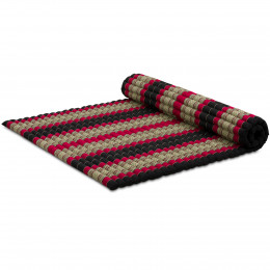 Kapok Rollmatte, Gr. XL, schwarz / rot