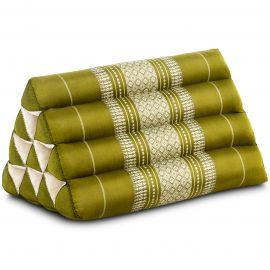 Kapok Dreieckskissen, Thaikissen, Rückenlehne, grün