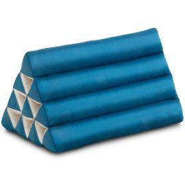 Kapok Dreieckskissen, Thaikissen, Rückenlehne, hellblau einfarbig