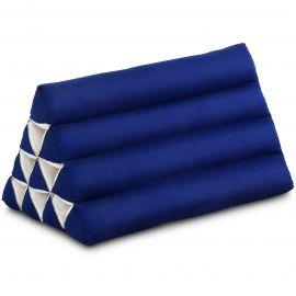 Kapok Dreieckskissen, Thaikissen, Rückenlehne, blau einfarbig
