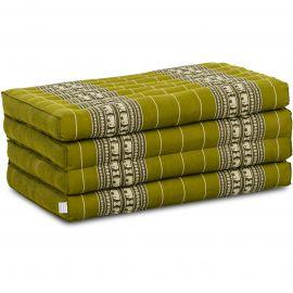 Kapok Faltmatratze, Klappmatratze,  grün/Elefanten