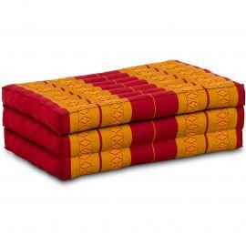 Kapok Matratze für Kinder, Faltmatratze  rot-gelb