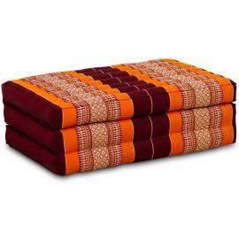 Kapok Matratze für Kinder, Faltmatratze  orange