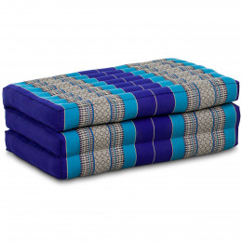 Kapok Matratze für Kinder, Faltmatratze  blau