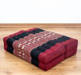 Stützkissen, Yogakisssen (klappbar)  rot / Elefanten