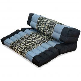 Stützkissen, Yogakisssen (klappbar)  blau / Elefanten