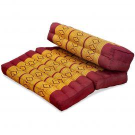 Stützkissen, Yogakisssen (klappbar)  rot / gelb