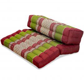Stützkissen, Yogakisssen (klappbar)  rot / grün
